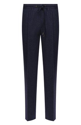 Мужской шерстяные брюки HILTL синего цвета, арт. 42210/60-70 | Фото 1