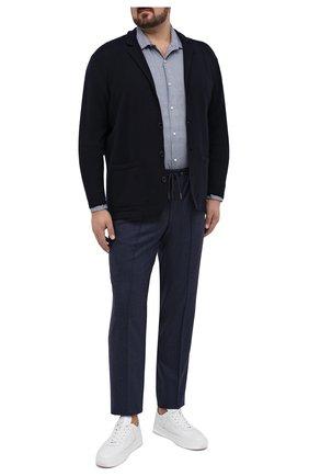 Мужской шерстяные брюки HILTL синего цвета, арт. 42210/60-70 | Фото 2