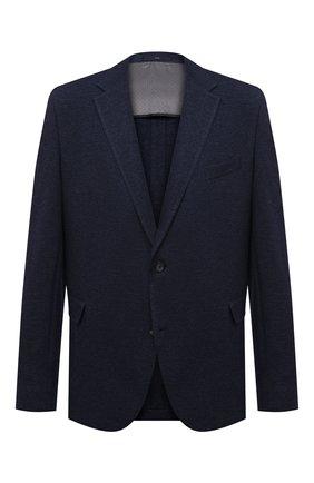 Мужской пиджак из шерсти и хлопка EDUARD DRESSLER синего цвета, арт. 64G1/26J05 | Фото 1