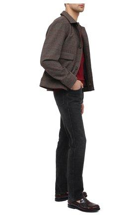 Мужские кожаные лоферы CHURCH'S бордового цвета, арт. EDC057/9LG | Фото 2