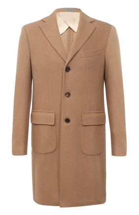 Мужской шерстяное пальто CORNELIANI светло-коричневого цвета, арт. 861214-0812800/00 | Фото 1