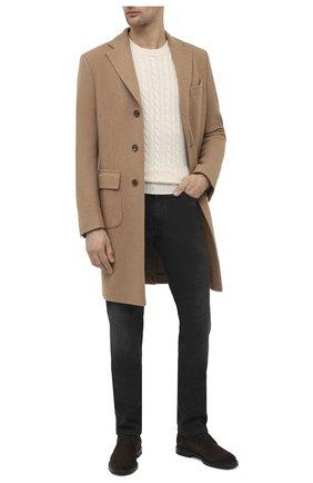 Мужской шерстяное пальто CORNELIANI светло-коричневого цвета, арт. 861214-0812800/00 | Фото 2
