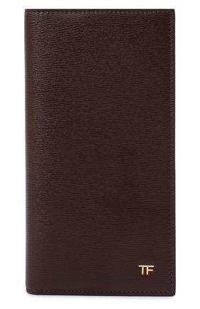 Мужской кожаное портмоне TOM FORD бордового цвета, арт. Y0251T-LCL053 | Фото 1