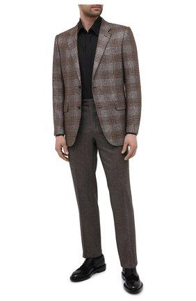 Мужской кожаные дерби SANTONI черного цвета, арт. MCC017331LM1FLTUN51 | Фото 2
