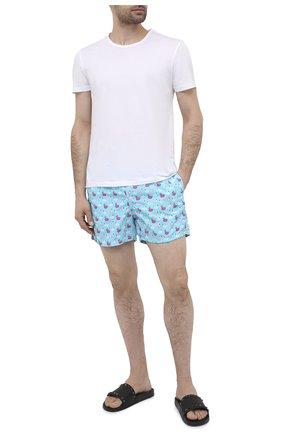 Мужские плавки-шорты MC2 SAINT BARTH голубого цвета, арт. STBM LIGHTING MICR0 FANTASY/LIG0003 | Фото 2