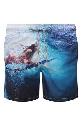 Мужские плавки-шорты MC2 SAINT BARTH синего цвета, арт. STBM GUSTAVIA PLACED PRINT/GUS0009 | Фото 1
