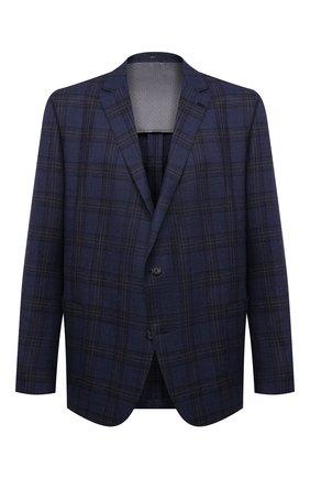 Мужской пиджак из шерсти и шелка EDUARD DRESSLER синего цвета, арт. 6461/26051 | Фото 1