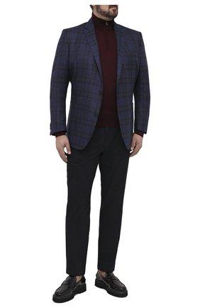 Мужской пиджак из шерсти и шелка EDUARD DRESSLER синего цвета, арт. 6461/26051 | Фото 2