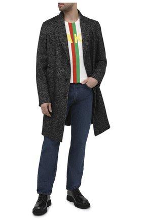 Мужские кожаные дерби GUCCI черного цвета, арт. 625281/DS800 | Фото 2