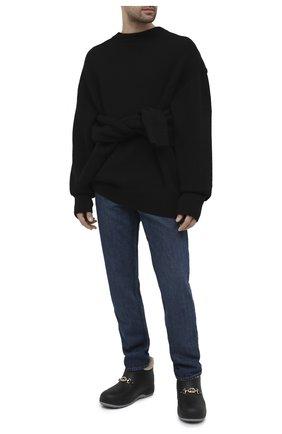 Мужские резиновые сапоги GUCCI черного цвета, арт. 626692/JCC00 | Фото 2