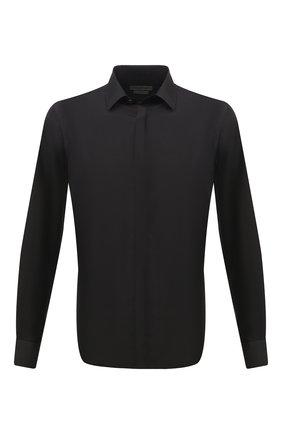 Мужская шелковая сорочка CORNELIANI черного цвета, арт. 86P082-0811100/00 | Фото 1