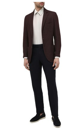 Мужская шелковая сорочка CORNELIANI светло-серого цвета, арт. 86P082-0811100/00 | Фото 2