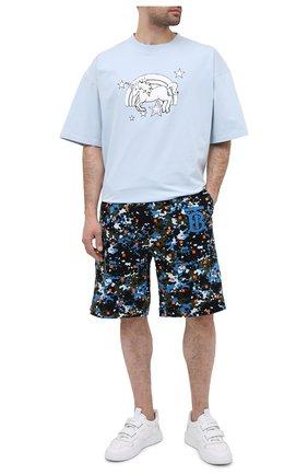 Мужские хлопковые шорты BURBERRY разноцветного цвета, арт. 8034156 | Фото 2