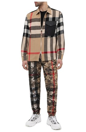 Мужская рубашка из шерсти и хлопка BURBERRY бежевого цвета, арт. 8033815 | Фото 2