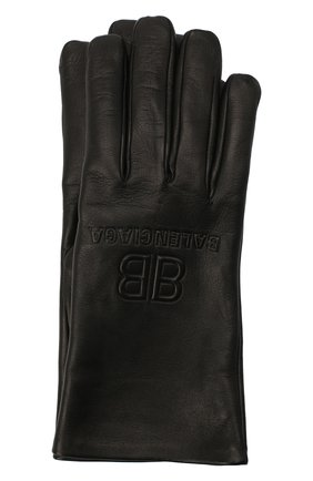 Мужские кожаные перчатки BALENCIAGA черного цвета, арт. 639821/453B8 | Фото 1