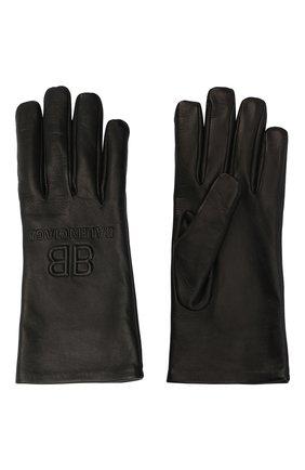 Мужские кожаные перчатки BALENCIAGA черного цвета, арт. 639821/453B8 | Фото 2