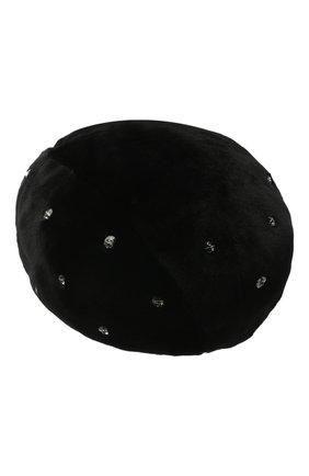 Женский берет из меха норки KUSSENKOVV черного цвета, арт. 11510002036 | Фото 2
