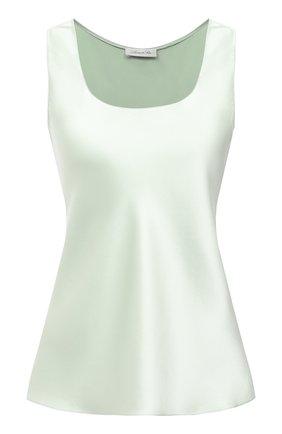 Женский шелковый топ LUNA DI SETA зеленого цвета, арт. L630006 | Фото 1