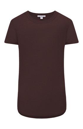 Женская хлопковая футболка JAMES PERSE коричневого цвета, арт. WUA3037 | Фото 1