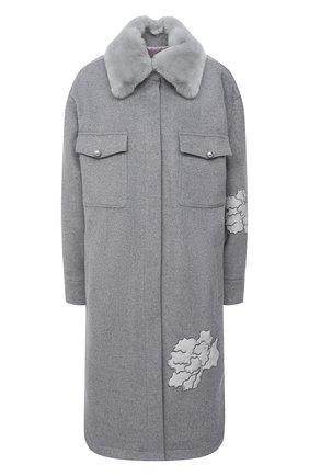Женское шерстяное пальто SEVEN LAB серого цвета, арт. CL20-T-SFL grey | Фото 1
