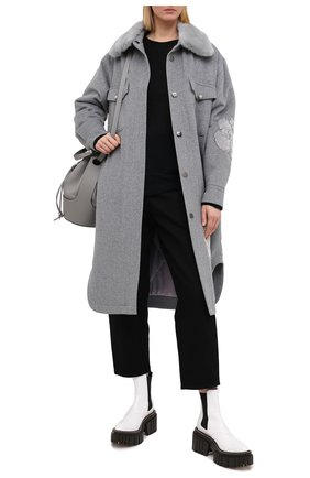 Женское шерстяное пальто SEVEN LAB серого цвета, арт. CL20-T-SFL grey | Фото 2
