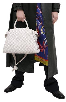 Женская сумка bv handle BOTTEGA VENETA белого цвета, арт. 639301/V01D1 | Фото 2