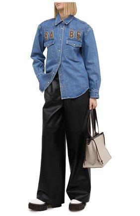 Женская джинсовая рубашка FORTE DEI MARMI COUTURE синего цвета, арт. 20WF8150-01 | Фото 2