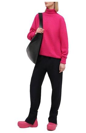 Женский шерстяной свитер MAISON MARGIELA фуксия цвета, арт. S51HA1057/S17477   Фото 2