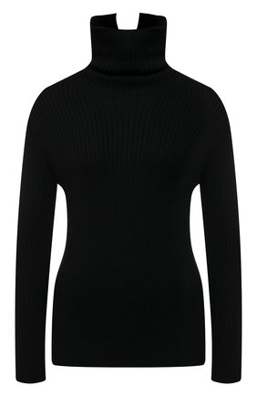 Женский шерстяной свитер Y`S черного цвета, арт. YR-K08-182 | Фото 1