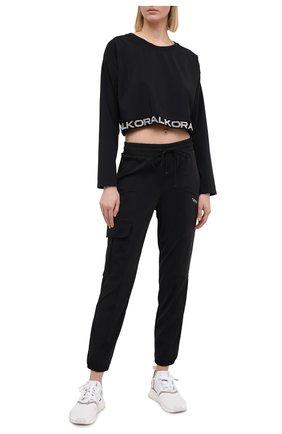 Женские брюки KORAL черного цвета, арт. A2691E32 | Фото 2