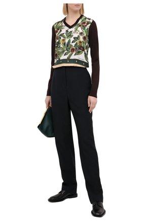 Женская пуловер из кашемира и шелка DOLCE & GABBANA коричневого цвета, арт. FX941T/JAM15 | Фото 2