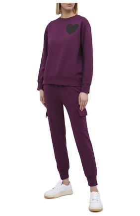 Женская хлопковый свитшот MONROW бордового цвета, арт. HT0804-23 | Фото 2