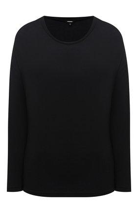 Женская лонгслив из смеси вискозы и хлопка MONROW черного цвета, арт. HT0517CM | Фото 1