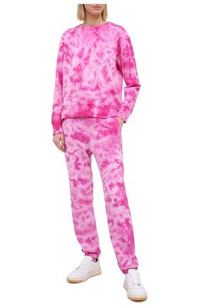 Женские хлопковые брюки MONROW розового цвета, арт. HB0455-6 | Фото 2