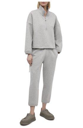 Женский хлопковый свитшот JAMES PERSE серого цвета, арт. WRDK3392 | Фото 2