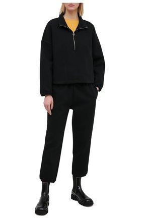 Женский хлопковый свитшот JAMES PERSE черного цвета, арт. WRDK3392 | Фото 2