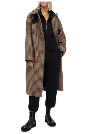 Женские хлопковые брюки JAMES PERSE черного цвета, арт. WRDK1860 | Фото 2