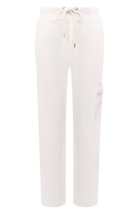 Женские хлопковые брюки JAMES PERSE белого цвета, арт. WKUP1841 | Фото 1