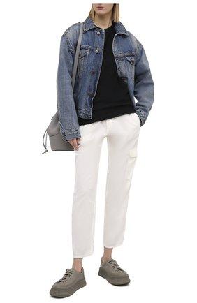 Женские хлопковые брюки JAMES PERSE белого цвета, арт. WKUP1841 | Фото 2