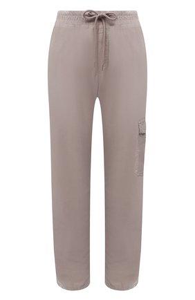 Женские хлопковые брюки JAMES PERSE светло-серого цвета, арт. WKUP1841 | Фото 1