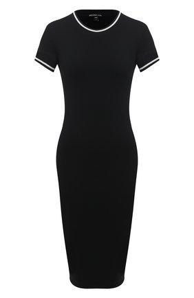 Женское хлопковое платье JAMES PERSE черного цвета, арт. WGCR6483 | Фото 1