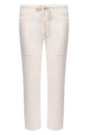 Женские хлопковые брюки JAMES PERSE белого цвета, арт. WACS1912 | Фото 1