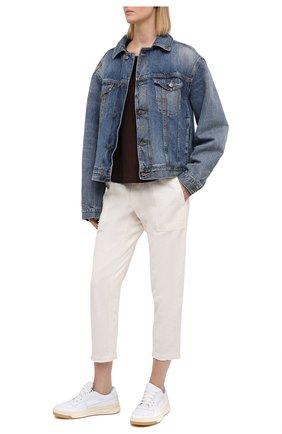 Женские хлопковые брюки JAMES PERSE белого цвета, арт. WACS1912 | Фото 2
