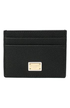 Женский кожаный футляр для кредитных карт DOLCE & GABBANA черного цвета, арт. BI0330/AW737 | Фото 1