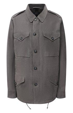 Женская замшевая куртка POLO RALPH LAUREN серого цвета, арт. 211821118 | Фото 1