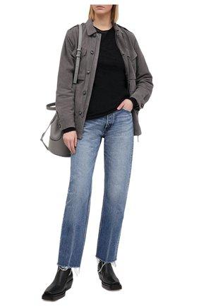 Женская замшевая куртка POLO RALPH LAUREN серого цвета, арт. 211821118 | Фото 2