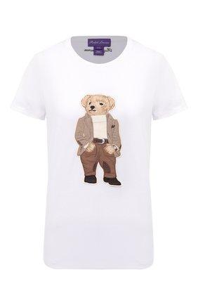 Женская хлопковая футболка RALPH LAUREN белого цвета, арт. 290819495 | Фото 1