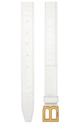 Женский кожаный ремень BALENCIAGA белого цвета, арт. 640828/1LR04   Фото 2