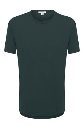 Мужская хлопковая футболка JAMES PERSE темно-зеленого цвета, арт. MKJ3360 | Фото 1