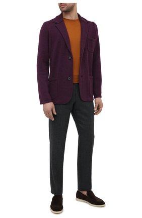 Мужской пиджак из шерсти и кашемира FIORONI фиолетового цвета, арт. MKF21315G1 | Фото 2